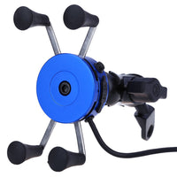 CS - 416 X Type Universal Motorcycle Phone Stand Holder USB Socket Power Outlet Charger