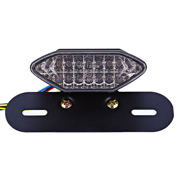 Universal 12V Motorcycle Retro Refit LED Tail Light Assembly Brake Stop Turn Signal Light