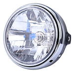 12V Motorcycle Crystal Round Headlight Modified Headlamp Assembly for Honda Bumblebee CB400 / 900