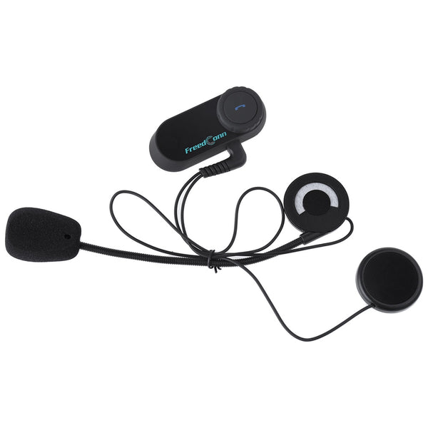 T - COMOS Bluetooth Motorcycle Motorbike Helmet Intercom Headset Full-duplex Water-resistant Interphone