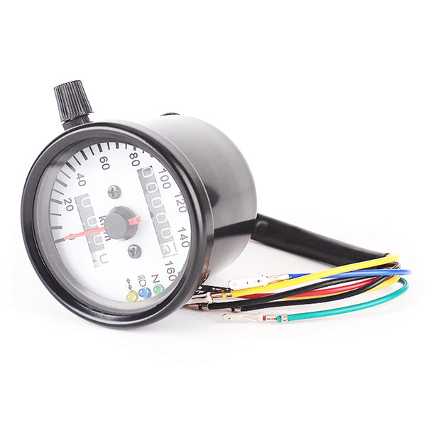 B711 - 2 Universal Dual Odometer Speedometer Gauge Speed Meter Night Light LED Backlight Motorcycle Modification Part