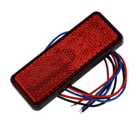 Motorcycle LED Turn Signal Light Rear Tail Stop Taillight Rectangle Brake Lamp