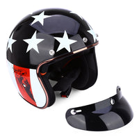 JIEKAI Universal Motorcycle Helmet Open Face Cold Protection Safe Riding Scooter Headpiece with Visor