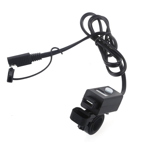 Creative USB Motorcycle Bike Charger with LED Light for Phones / GPS