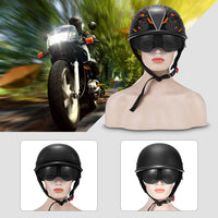 ZR - 111 Motorcycle Half Helmet with Built-in Lens / ABS Plastic