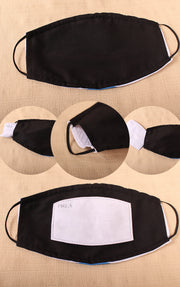 Sleeping Corgi's Pattern Mask  2 Layer Face Mask with Filter Pocket Washable, Reusable, Breathable. Free Filter