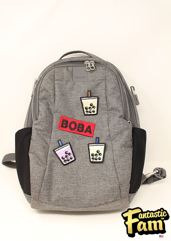 BOBA (word) Iron On Patches