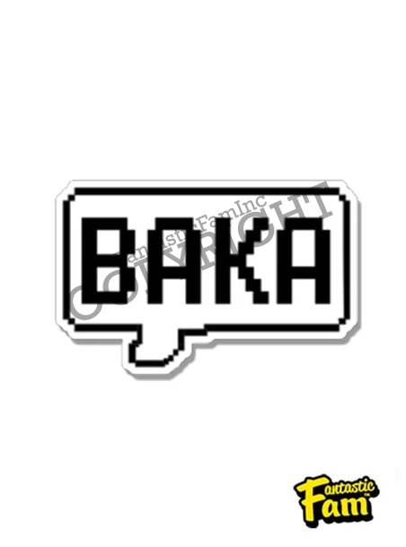 Baka Speech (Pixel) Vinyl Sticker