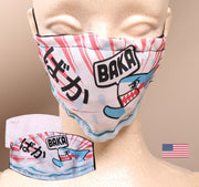 Baka Shark 2 Layer Face Mask with Filter Pocket Washable, Reusable, Breathable. Free Filter