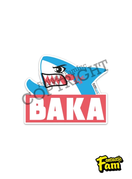 Baka Shark Vinyl Sticker