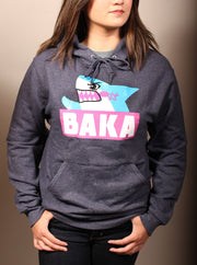 Baka Shark Unisex Hoodie - Heather Black