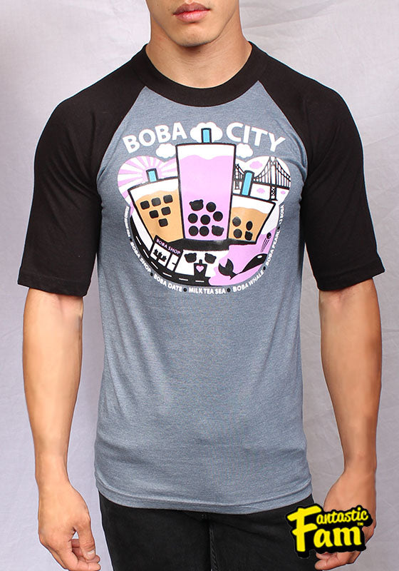 Boba City Unisex Baseball T