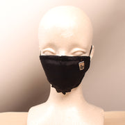 Milk Tea Boba Embroidered Black Face Mask