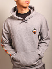 Thai Tea Boba Embroidered Unisex Hoodie - Oxford