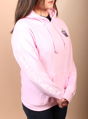 Taro Tea Boba Embroidered Unisex Hoodie - Pink