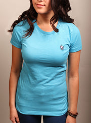 Taro Boba Tea Woman's Tee - Heather Aqua