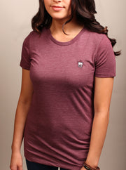 Lychee Boba Tea Woman's Tee - Heather Maroon