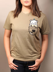 Pocket Boba Unisex T-Shirt - Green
