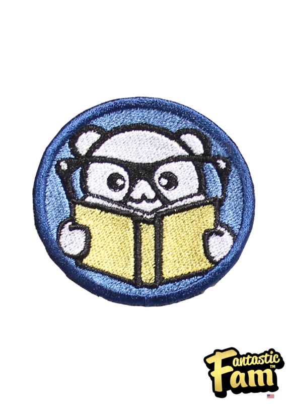 Book Nerd Iron On Patch