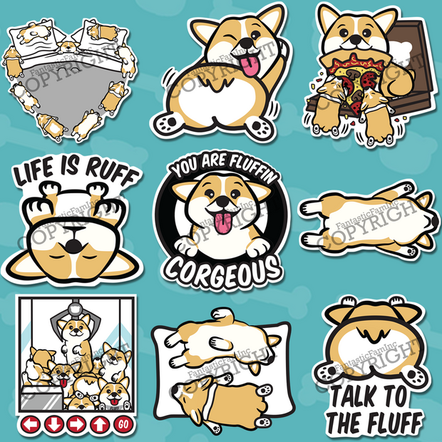 Corgi Stickers Special Bundle