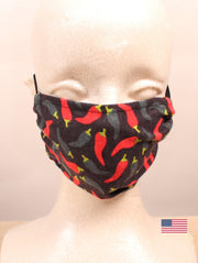 Chili Pepper Pattern Face Mask