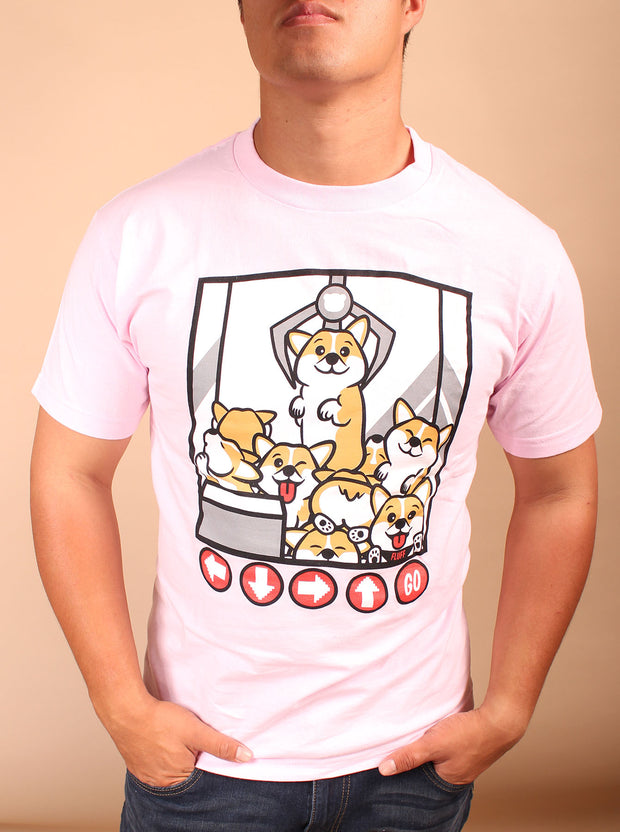 Corgi Claw Machine Unisex T-Shirt - Pink