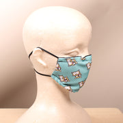 Corgi Butt Pattern Mask 2 Layer Face Mask with Filter Pocket Washable, Reusable, Breathable. Free Filter