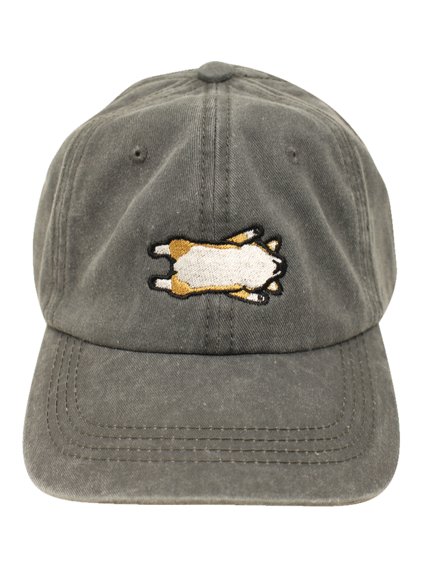 Defeated Corgi Belly Dad Cap - Charcoal