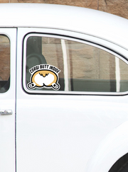 Corgi Butt Inside Peeking Vinyl Sticker