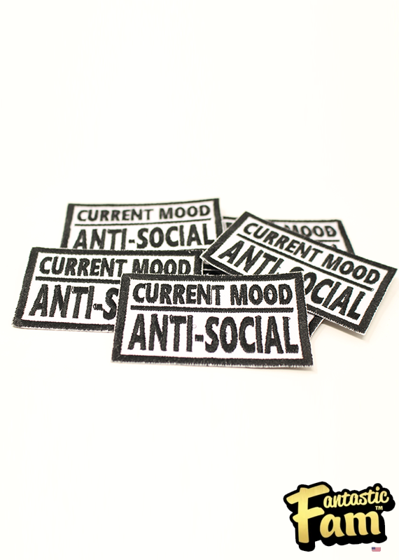 Current Mood: Anti-Social Iron On Patch