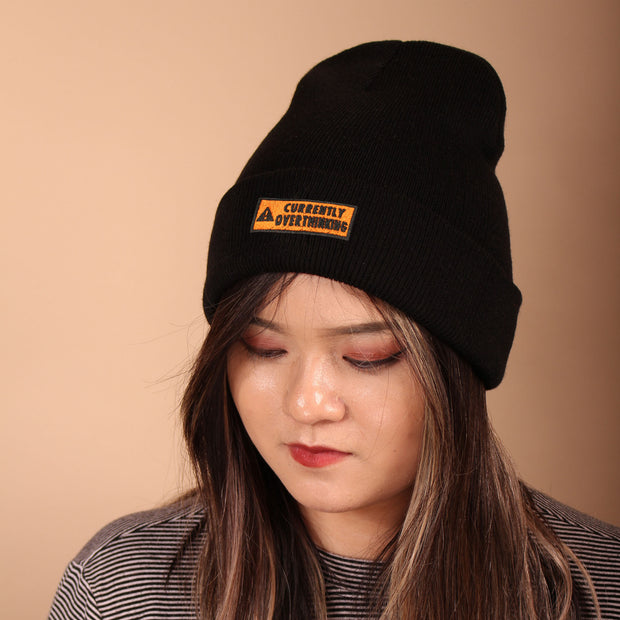 Currently Overthinking Beanie - Black