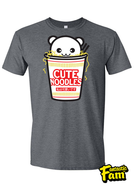 Cute Noodles Unisex T-Shirt - Heather Gray