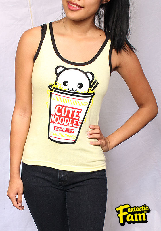 Cute Noodles Womans Tank Top - Yellow