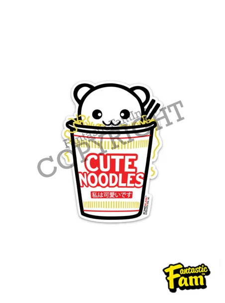 Cute Noodles Vinyl Sticker