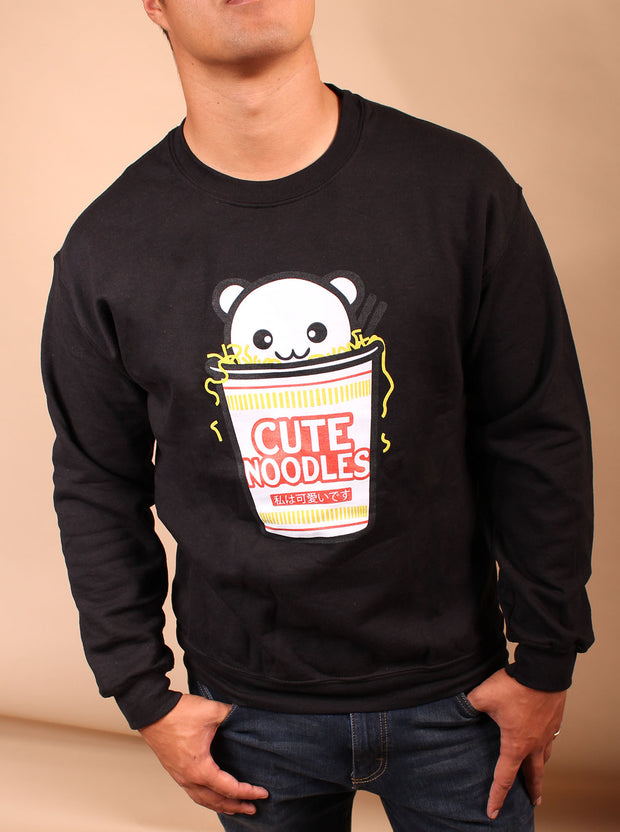 Cute Noodles Unisex Crewneck - Black