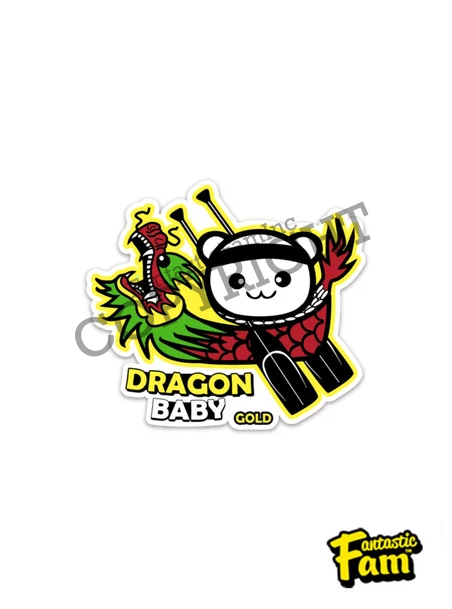 Dragon Baby Gold Vinyl Sticker