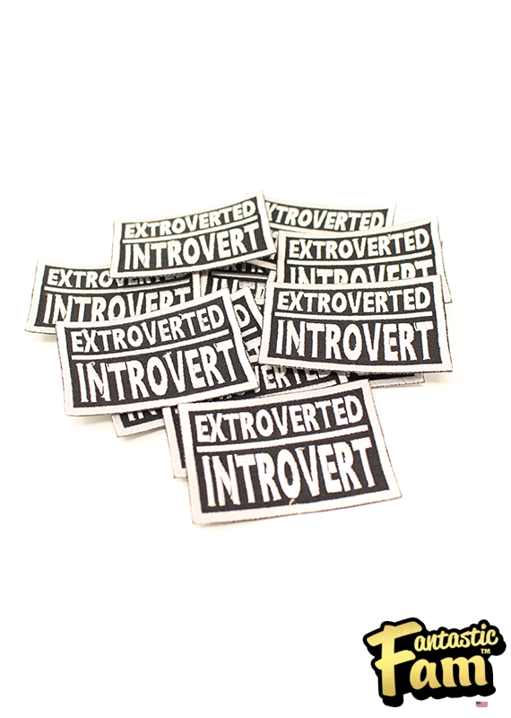 Introverted Extrovert Iron On Patch