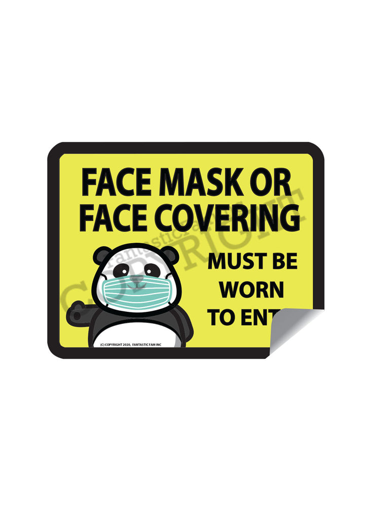 Face Masks Must Be Worn Vinyl Sticker