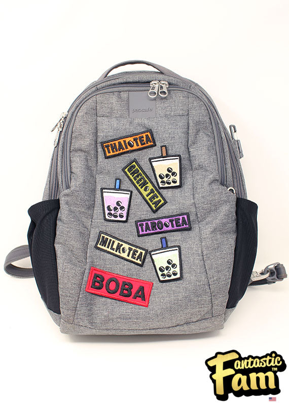 Boba Tea Flavors Iron On Patches