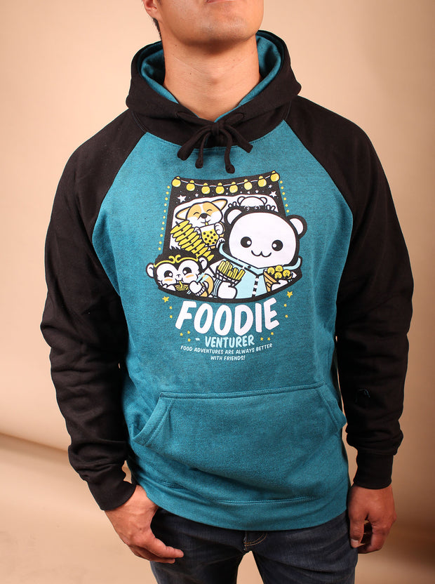 Foodie-Venturer Unisex Hoodie [Night Market Edition] - Teal