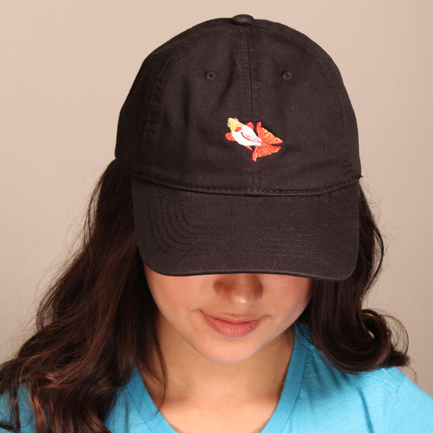 Butterfly Goldfish Dad Cap - Black