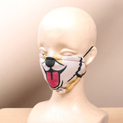Happy Corgi - Tan 2 Layer Face Mask with Filter Pocket Washable, Reusable, Breathable. Free Filter