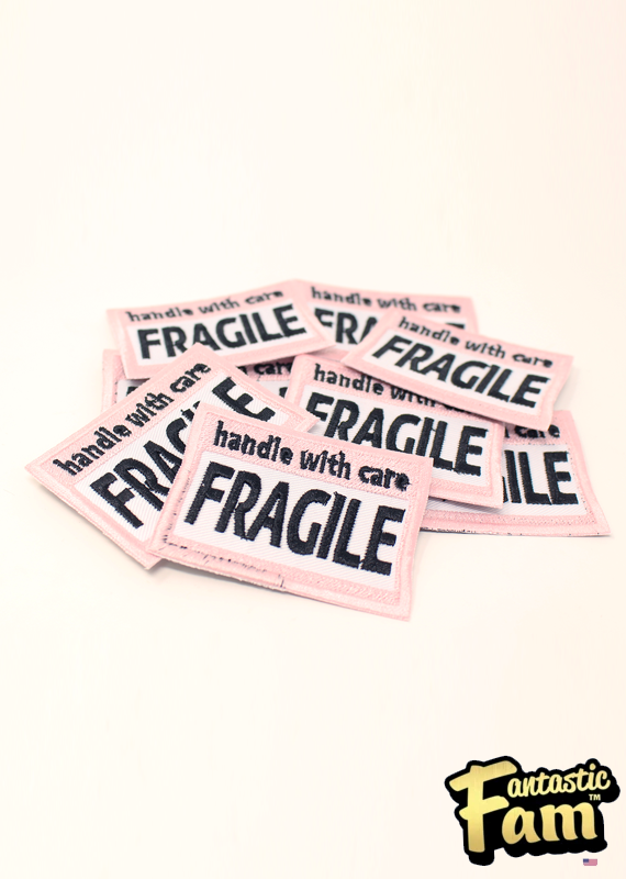 Handle With Care: Fragile! Iron On Patch
