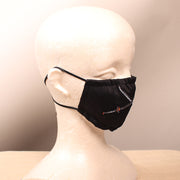 Katana Swords Embroidered Black Face Mask