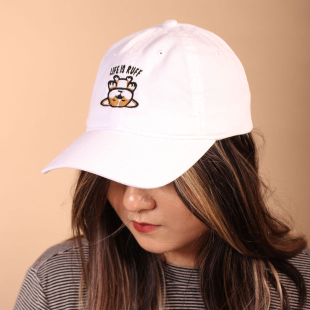 Life is Ruff Dad Cap - White