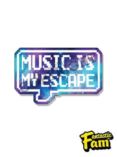 Music Is My Escape Vinyl Sticker
