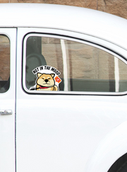 Not in the Mood Shiba Peeking Vinyl Sticker