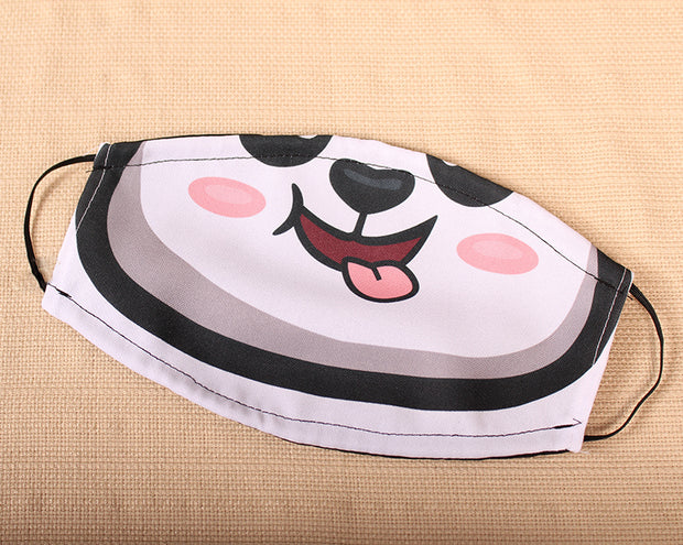 Panda Smile 2 Layer Face Mask with Filter Pocket Washable, Reusable, Breathable. Free Filter