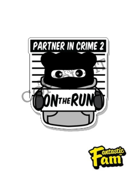 Partners In Crime #2 Vinyl Sticker