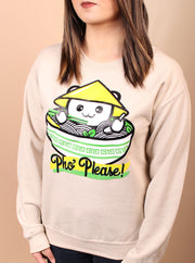 Pho Please Unisex Crewneck - Tan